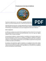 Rules of Employment in the State of California