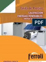 Ferroli Calefaccion Energias Renovables 2012