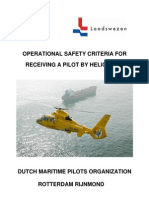 Operational Safety Criteria for Receiving a Pilot by Helicopter - Dutch Maritime Pilots Organization Rotterdam Rijnmond