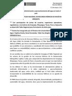 BOLETÍN DE PRENSA 06-2012