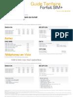 SIM+ Guide Tarifaire Forfaits 01042012