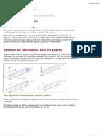 Theorie Des Poutres