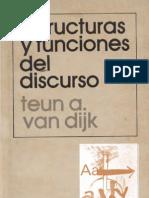 Van Dijk, Teun a. - Estructuras y Funciones Del Discurso