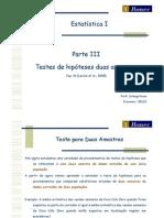 04.2 Estatística I 2012 1 Economia - Testes de Hipóteses para duas amostras