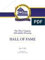 2012 West Virginia Affordable Housing Hall of Fame Ceremony Program