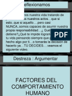 Clase n.- 7- Factores Del Comport a Mien To Humano.