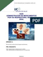 Guía administración de medicamentos por vía respiratoria, rectal y oral