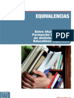 Equivalencias entre Titulaciones FP.2012