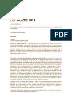 Ley 1454 de 2011 Ley Ordenamniento Territorial
