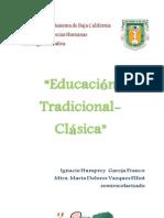 Educacion Tradicional Clasica IGNACIO