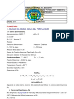 Calculo Caudal de Gas Placa de Orificio