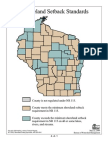 Shoreland Setback Standards, Wisconsin, By County