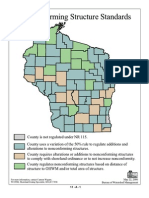 Shoreland Standards for Non-Conforming Structures, By County in Wisconsin