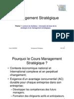 Thème 1 les concepts fondamentaux du management stratégique