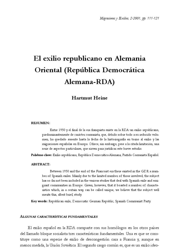 Exilio Republic a No en Rda