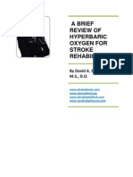 A Brief Review of Hyperbaric Oxygen for Stroke Rehabilitation - 11-11-11