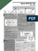 APC Back UPS ES750 Manual