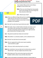 daily act comprehension