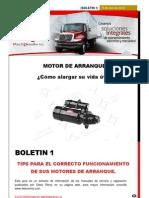 Boletin Motor de Arranque