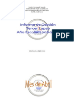 INFORME DE GESTIÓN 2008-2009 TERCER LAPSO