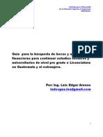 Becas n Tecnico Licenciatura Pre Grado Guatemala