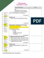 11-7-11 agenda