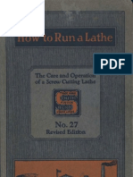 How to Run a Lathe 1928