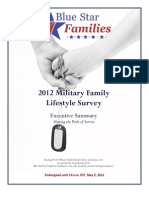 Blue Star Families 2012 Military Family Lifestyle Survey Executive Summary EMBARGOED