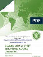 Enabling Unity of Effort in Homeland Response Operations