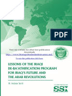 Lessons of the Iraqi De-Ba'athification Program for Iraq's Future and the Arab Revolutions