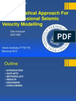 A Geostatistical Approach for Two-Dimensional Seismic Velocity Modelling