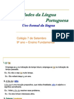 Uso Formal Da Lingua II