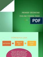 Prinsip Ekonomi Dalam Usahatani