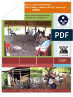 Diagnóstico Socioeconómico de ocho Comunidades del Sector Occidental de la Bahía de Jiquilisco
