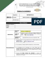 Tabajo Academico Dematematica II