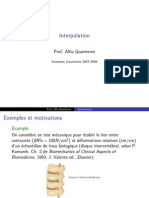 "Interpolation ( cours  math 4 ""usthb"" )"