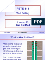 23. Gas Cut Mud