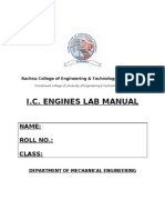 Ic Engines Laboratory Manual