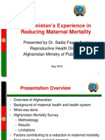 Ayubi_Maternal Mortality Reduction in Afghanistan