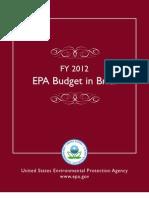 EPA Budget in Brief - FY 2012