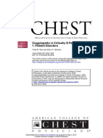 Rice and Wheeler - Coagulopathy in Critically Ill Patients PART 1 - Chest 2009
