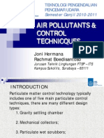 Air Pollutants & Control Technicques