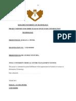 HOSPITAL MANAGEMENT SYSTEM FINAL DOCUMENTATION REPORT