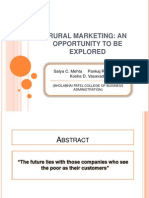 Rural Marketing (Ms Office 2007)