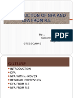 Construction of Nfa and Dfa From r