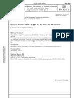 1011-2e DIN en ion for Arc Welding of Ferritic Steel