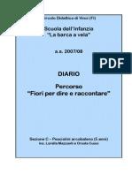 Diario Percorso didattico Fiori per dire e raccontare a.s.2007/08