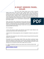 Buat Sendiri Panel Solar