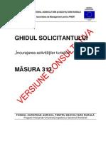 8af20 GHIDUL SOLICITANTULUI Pentru Masura 313 Versiunea Consultativa 06 Martie 2012