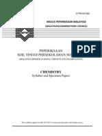 STPM Baharu Chemistry Syllabus